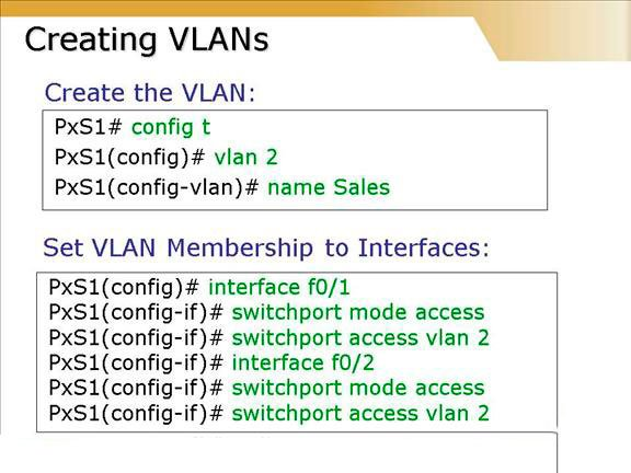 Creación de una VLAN en Cisco